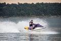 Riding a Jet ski. Royalty Free Stock Photo