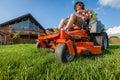 Riding lawnmower Royalty Free Stock Photo