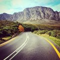 Riding into mountains my motorcycle the of cape town Royalty Free Stock Photo