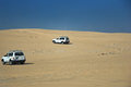 Riding in the Sahara Desert Stock Photo