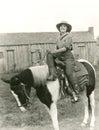 Riding side saddle Royalty Free Stock Photo