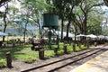 Rieles de tren Hacienda Santa Teresa