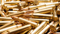 Rifle ammo background Royalty Free Stock Photo