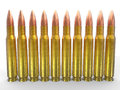 Rifle ammo bullets Royalty Free Stock Photo