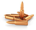 Rifle cartridges on white background d rendered image Stock Photos
