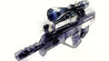 Rifle with an optical sight automatic sketch on light background Royalty Free Stock Photography