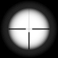 Rifle sight black and white crosshair with blank space military and weapon Stock Image