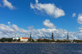 Riga capital of latvia skyline europe Stock Image