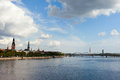 Riga capital of latvia skyline europe Stock Photography