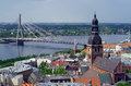 Riga latvia europe view from the tower of st peter s church Stock Image