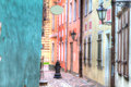 Riga latvia hdr buildings colorful architecture Stock Image