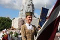 Riga latvia july people in national costumes at the latvi latvian song and dance festival on holiday was hold from th june Stock Image