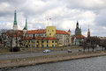 Riga latvia march view of riga castle the castle is a residence for a president of latvia old town Stock Images