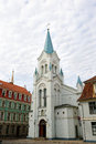 Riga latvia the our lady of sorrows church in Royalty Free Stock Images