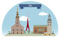Riga latvia for you design Stock Photography