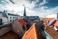 Riga Old Town rooftops Royalty Free Stock Photo