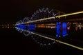 Riga Railway Bridge Royalty Free Stock Photo