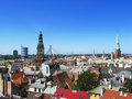 Riga roofs panorama of the capital of latvia Royalty Free Stock Images