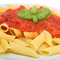 Rigatoni Pasta Meal Stock Photo