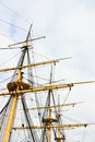 Rigg on a old ship rigging frigate Royalty Free Stock Images