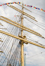 Rigging of big sailing ship Royalty Free Stock Images
