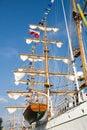 Rigging of big sailing ship Royalty Free Stock Photo