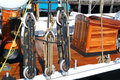 Rigging and Boat Deck Royalty Free Stock Photo