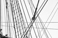 The rigging on the ship. Royalty Free Stock Photo