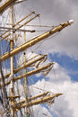 Rigging of a tall ship Royalty Free Stock Image
