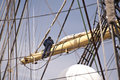 Rigging of a tall ship Royalty Free Stock Images