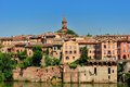 Righ bank of the medieval old town of albi and tarn river france Royalty Free Stock Photography