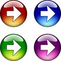 Right Arrow glossy button icon Royalty Free Stock Images