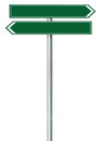 Right left road route direction pointer this way sign, green green isolated roadside signage, white traffic arrow frame roadsign Royalty Free Stock Photo