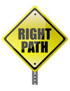 Right Path Street sign Stock Photography