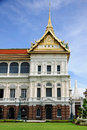 Right side of the chakri maha prasat royal grand palace bangkok thailand throne hall Stock Photo