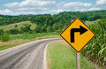Right Turn Sign Royalty Free Stock Photo