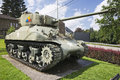 Right view of the Sherman tank from the 7th Armoured Division Royalty Free Stock Photo