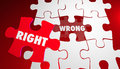 Right Vs Wrong Correct Accurate Puzzle Pieces