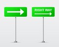 Right way street road sign vector illustration this is file of eps format Royalty Free Stock Image