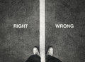 Right and wrong Royalty Free Stock Photo