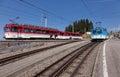 Rigi Railways trains on Mount Rigi Royalty Free Stock Photo