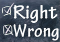 Rigth wrong choice sign Royalty Free Stock Photography