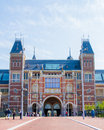 Rijksmuseum in amsterdam city center has worldfamous art paintings one of the most famous the nachtwacht Royalty Free Stock Photos