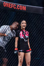 "Rika Ishige ""Tiny Doll"" of Thailand in One Championship. Royalty Free Stock Photo"