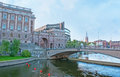 The riksbron stokholm sweden october national bridge is an arch bridge leading to parliament house on helgeandsholmen on october Royalty Free Stock Photography