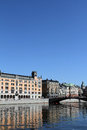 Riksgatan Bridge Stockholm Royalty Free Stock Photography