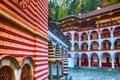 Rila Monastery, Bulgaria and autumn mountains