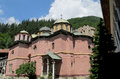 Rila monastery church in bulgaria details of a fresco and orthodox icon painting the of or the of saint ivan of famous Stock Photos