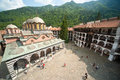 Rila Monastery from the highest point, Bulgaria Royalty Free Stock Photo