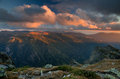 Rila mountain sunset in bulgaria Royalty Free Stock Photos